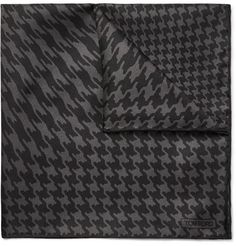 Tom Ford Houndstooth-Print Silk-Twill Pocket Square