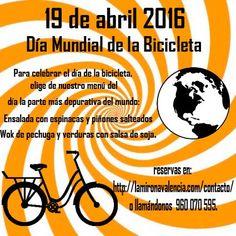 #DiaMundialDeLaBicicleta Celebra el día mundial de la bicicleta con nosotros. Nuestro menú acompaña!