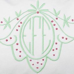 Tis' the season for red and green! Our Delcambre monogram has been a favorite since the beginning and looks oh so festive in these two colors! #MyLeontine  #CustomLinens