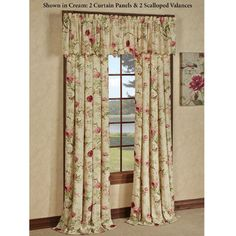 Balmoral Crushed Taffeta Floral Window Treatment