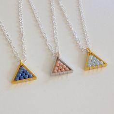 Etsy listing at https://www.etsy.com/uk/listing/472905297/miyuki-triangle-necklace-simple