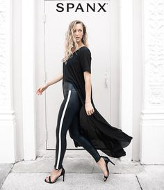 f1a2dc3afd4b3c Shop our Faux Leather Side Stripe Leggings designed for style and comfort.  Striped Leggings Outfit