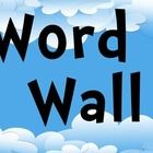 A Word Wall with a Cloud Theme