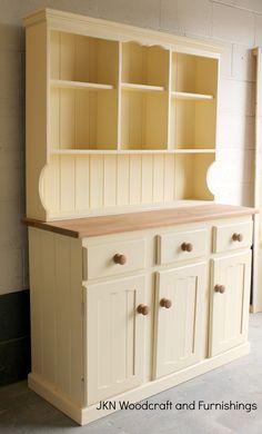Refurbished Sideboard / Welsh Dresser finished in crème