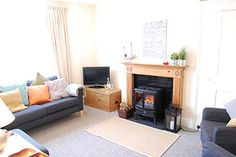 Living room in Packway Farmhouse a Suffolk holiday cottage in
