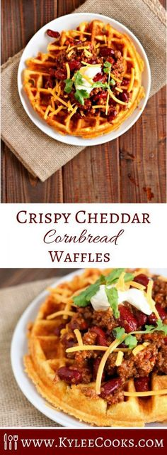 Hypoallergenic Pet Dog Food Items Diet Program A Fresh Take On A Traditional Waffle, These Crispy Cheddar Cornbread Waffles Are The Perfect Vehicle For Chili, And So Much Fun To Eat Cornbread Waffles, Savory Waffles, Pancakes And Waffles, Making Waffles, Healthy Waffles, Buttermilk Waffles, Brunch Recipes, Breakfast Recipes, Dinner Recipes