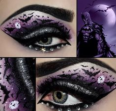 Batman themed eye makeup.