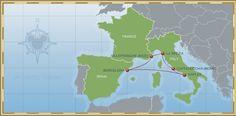 7-night Mediterranean Disney Cruise Map