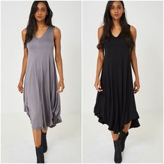 Womens Lagenlook Asymmetric Jersey Stretch Dress Maxi Grey Plus Sizes UK 16 18 Stretch Dress, Stretch Fabric, Long Sleeve Midi Dress, Party Dress, Plus Size, Summer Dresses, Clothes For Women, Lady, Clothing