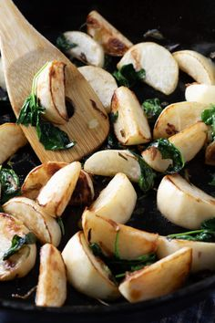 Pan Fried Turnips are a wonderful low carb potato substitute for keto diets and perfect for holidays dinners as well as casual weeknight meals. Parsnip Recipes, Radish Recipes, Onion Recipes, Veg Recipes, Yummy Recipes, Low Carb Side Dishes, Side Dishes Easy, Roasted Turnips, Low Carb Potatoes