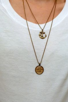 Refuse to sink awareness necklace