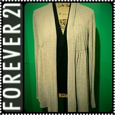 Forever 21 Cardigan Slouchy Grayish Forever 21 Sweater, Mint Condition Forever 21 Sweaters