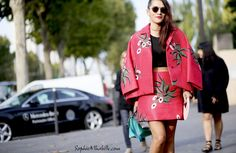 #tinaleung #red #colors #skirt #paris #pfw #women #fashionweek #ss15 #mbfw #fashion #style #look #outfit #streetfashion #streetstyle #mode #moda #style #streetlook
