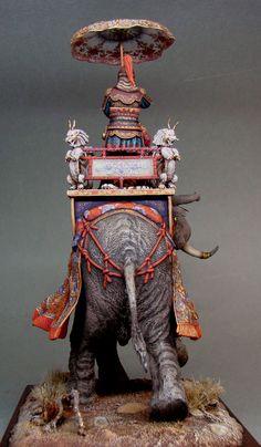 ФрагмКитайский полководец на боевом слоне XV векенты