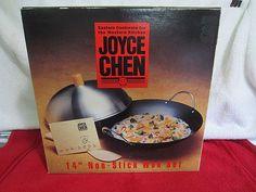 Vintage Joyce Chen Wok Set 14 Carbon Non Stick 21 9962 Retro