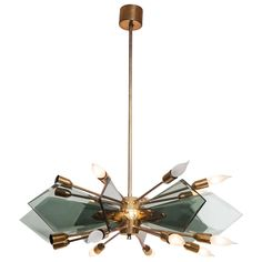 Fontana Arte Glass Chandelier | From a unique collection of antique and modern chandeliers and pendants at https://www.1stdibs.com/furniture/lighting/chandeliers-pendant-lights/
