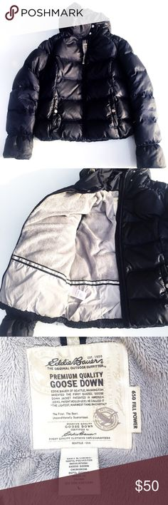 EDDIE BAUER goose down 650 full power EDDIE BAUER goose down 650 full power. This is high quality goose down jacket. Very sturdy and warm. Thank you for shopping my closet. I ship the next day. Eddie Bauer Jackets & Coats Puffers