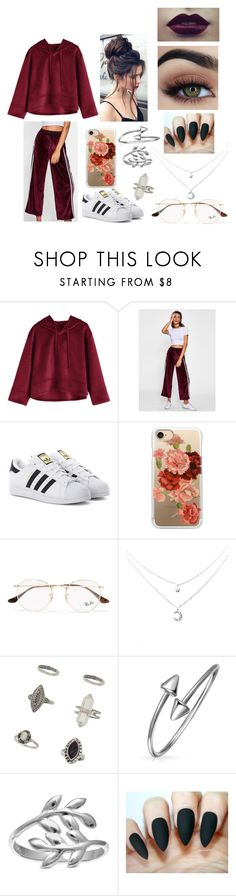 """""""Chill Outfit"""" by kookiebts1174 on Polyvore featuring adidas Originals, Casetify, Ray-Ban, Miss Selfridge, Bling Jewelry, Belk Silverworks and chill"""