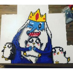 Ice King - Adventure Time perler beads by izibizii