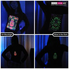 """The Hand"" UV-Blacklight Fluorescent & Glow-In-The-Dark Psychedelic Art Womens Hoodie in Black, $46 in Tripleview Art eBay Store _____________________________ #psychedelic #psy #trance #psytrance #goatrance #rave #trippy #hippie #esoteric #mystic #spiritual #visionary #symbolism #UV #blacklight #fluorescent #fluoro #fluo #neon #glow #glowinthedark #phosphorescent #luminescent #art #hoodie #handoffatima #hamsa #khamsa #amulet #ankh #lotus www.TripleviewArt.com"