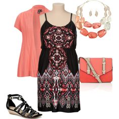 """""""plus size summer dress"""" by penny-martin on Polyvore"""