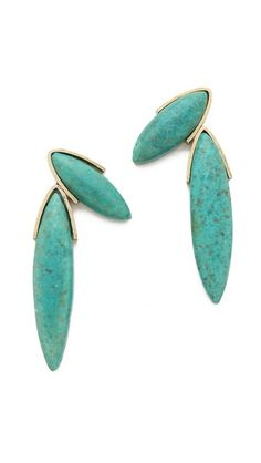 selected by http://jamesdrygoods.com for the made in america: contemporary project | #madeinusa | Gemma Redux Turquoise Fan Earrings