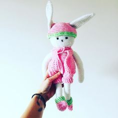 justineshapiro22:: // and now with a face and a beanie to boot this precious little bunny is off to a loving home  #bunny #rabbit #crochet #crocheted #crocheting #crochetaddict #crochetersofinstagram #wool #instadaily #Amigurumi #handmade #handmadeaustralia #handmadeisbetter #handmadewithlove #daysoftheyear #design #designer #cute #stuffoy #fruit #art #craft #diy #instagood #instalike #amigurumilove #tgif #friyay #pretty