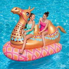 Play Day Mega Inflatable Ride-On Camel Float, Multicolor