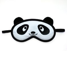 Panda Sleep Eye Mask Kawaii black and white by PomponDesigns
