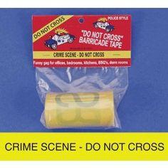 Crime Scene Tape, 100 ft --- http://www.amazon.com/Crime-Scene-Tape-100-ft/dp/B00152R7IK/?tag=mywelost0e-20