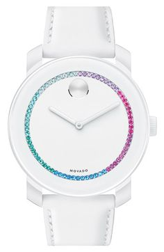 Pretty white watch with little bit sparkle