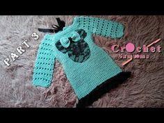 كروشيه فستان شتوي لاي مقاس ينفع ايضا اشتغاله كبلوزة -الجزء الثالت/ اشتغا... Moda Crochet, Crochet Baby, Crochet Dress Girl, Baby Princess, Crochet Videos, Baby Dress, Jade, Girls Dresses, Ootd