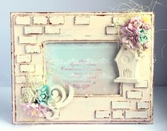 Picture Frame Projects, Old Picture Frames, Decoupage, Diy And Crafts, Arts And Crafts, Pretty Letters, Shabby Chic Wall Decor, Cute Frames, Mixed Media Artwork