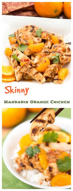 Skinny Mandarin Orange Chicken {baked} This baked asian mandarin orange chicken makes for a tasty and simple weeknight meal. All the flavor and none of the fat, you won't even miss the fried version o (Simple Bake Chicken) Orange Recipes, Asian Recipes, New Recipes, Real Food Recipes, Cooking Recipes, Healthy Recipes, Ethnic Recipes, Skinny Recipes, Healthy Dinners
