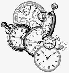 Frantic Stamper Cling-Mounted Rubber Stamp - Time Pieces-Measures approximately X Diy Image, Etiquette Vintage, Frantic Stamper, Black And White Prints, Vintage Stamps, Colouring Pages, Digital Stamps, Vintage Watches, Vintage Images