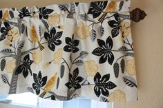 Waverly Valance Curtain Small Talk Black Bird by SewHomeDecor