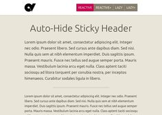 auto hide sticky header