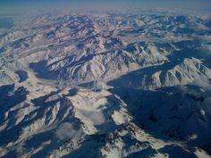 Cordillera de los Andes , en vuelo desde Mendoza , Argentina hasta Santiago de Chile . . .