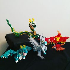 "18 mentions J'aime, 3 commentaires - Corey Wallis (@techxplorer) sur Instagram : ""#nanoblock #mythicalcreatures #dragon #pegasus #pheonix"""