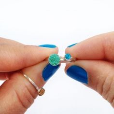 These beaded stackable rings are so easy to make - let me show you how!