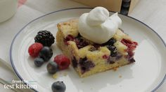 amazing Red, White and Blue Mixed-Berry Sheet Cake - From the Test Kitchen