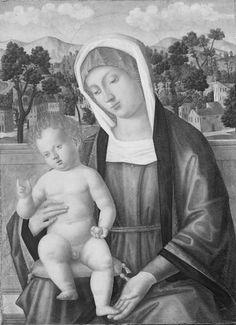 Mansueti Giovanni - Madonna con Bambino in un paesaggio - 1505-1525 - Accademia Carrara di Bergamo Pinacoteca