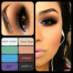 Achieved this #dramatic #eye using the #wetnwild matte pallet .