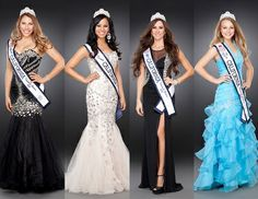 Miss California US London Becs, Miss Teen California Brooklyn Bizzle, US Ms. California US Annie Kasamanian and Miss Jr. Teen California US Samantha Figueroa