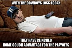 Home couch advantage!