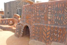 Photos Document the Decorated Clay Houses of a Royal African Village