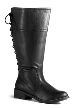 Sid Tall Lace Back Riding Boot-Extra Wide Width Boots-Avenue