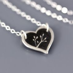 Nature's Heart Necklace in sterling silver by Lisa Hopkins Design