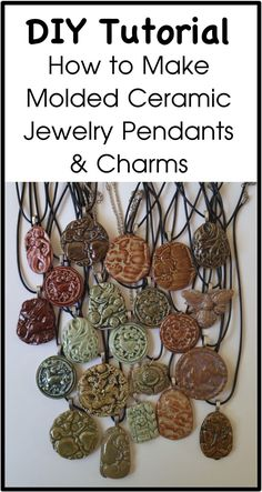 DIY Tutorial - How to Make Ceramic Molded Jewelry Pendants & Charms