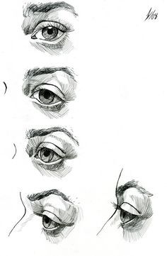 Eye Study by *DarkKenjie on deviantART https://www.facebook.com/CharacterDesignReferences